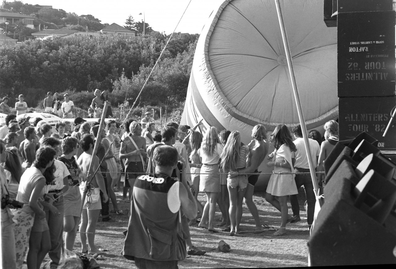 1982, outdoor summer gig